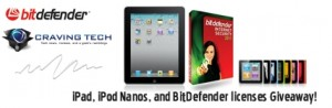 Win an iPad, iPod Nanos, or BitDefender Internet Security 2011 Licenses at Craving Tech!
