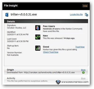 Norton 360 v5 Review - file insight