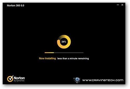 Norton 360 v5 Review - installation