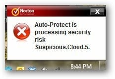 Norton 360 v5 Review -  suspicious activity