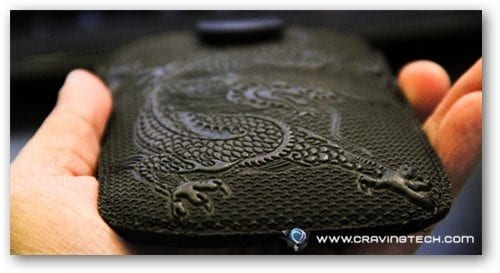 Oberon Cell Phone Sleeve Review - embossed