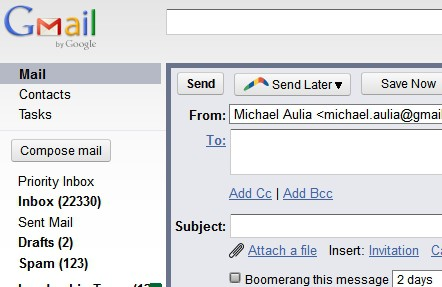 Schedule emails in Gmail draft