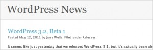 WordPress 3.2 Beta 1 – what's new?