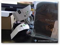 Belkin N600 HD Review - labels