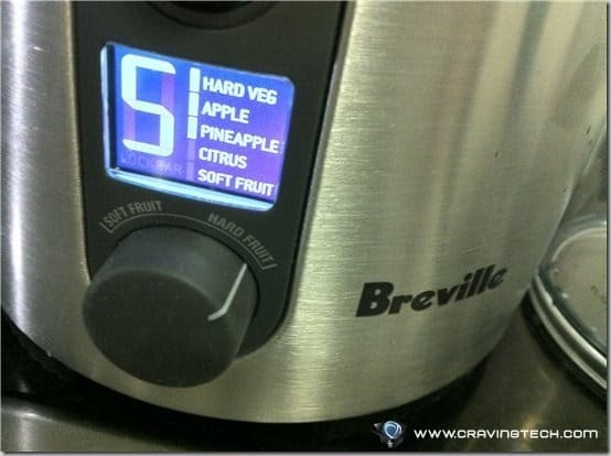 Breville ikon Froojie Review -  setting
