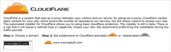 CloudFlare at HostGator