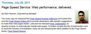 Google Page Speed Service speeds up your blog/site