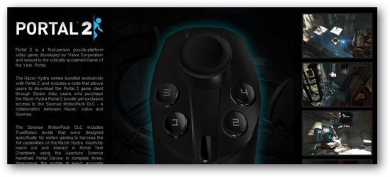 Razer Review - Portal 2 support