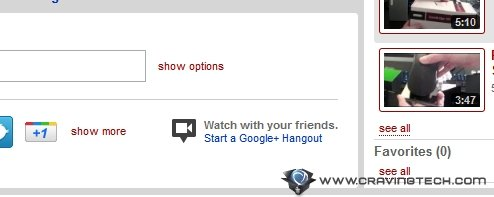 YouTube Google+ hangout