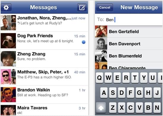 how to use facebook messenger on ipad