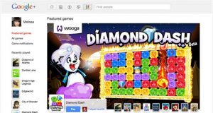 Google+ Games main page