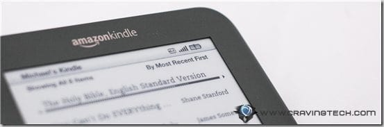 Amazon Kindle 3 Review - battery
