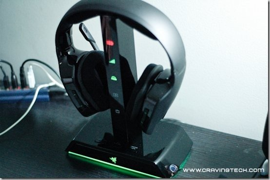 Razer Chimaera 5.1 Review - on stand