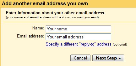 Add email address on gmail