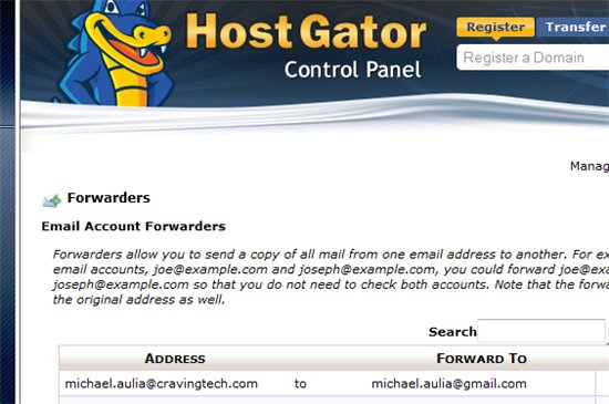 Forward domain name email to gmail