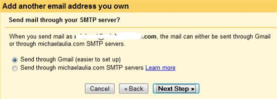 Send mail through SMTP server
