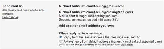 Use Gmail for domain name email
