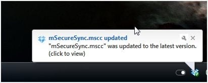 mSecure Dropbox Sync