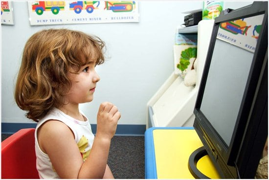 Kid with computer