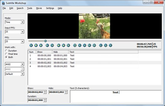 Subtitle Making Software free download