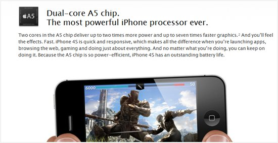 iPhone 4S dual core