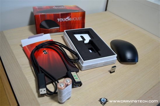 Microsoft Touch Mouse packaging opened