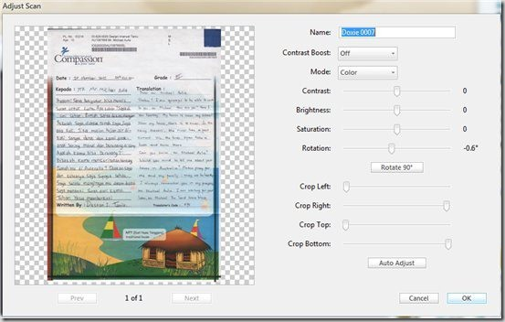 Doxie edit adjust scan
