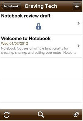 Notebook note