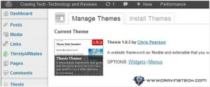 Craving Tech is rocking with Thesis Theme 1.8.3
