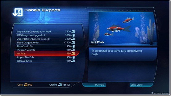 Mass Effect 3 Koi Fish