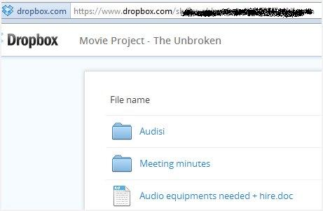 how to add photos to a shared dropbox folder