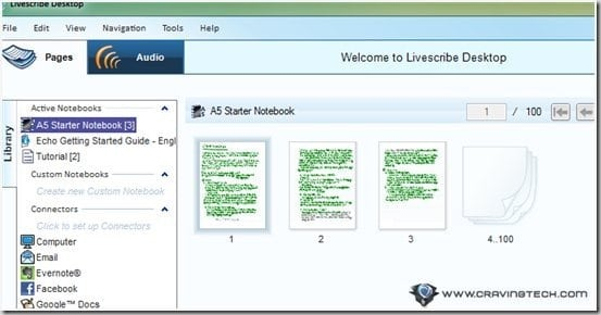 Livescribe Desktop all notes