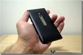 Nokia Lumia 800 back