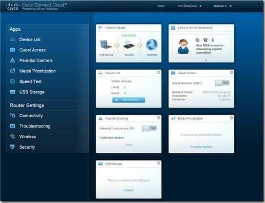 Cisco Connect Cloud dashboard