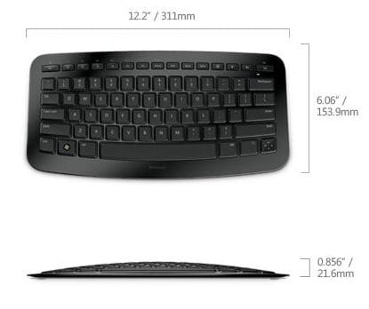 Microsoft Arc Keyboard dimensions