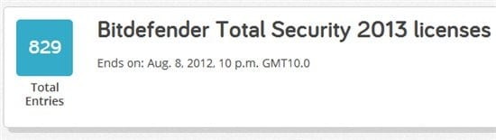 free BitDefender Total Security 2013 licenses