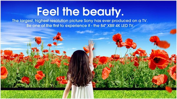Sony 4K TV features a huge 84 inch screen