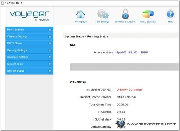 Voyager setup browser