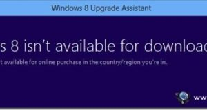 Windows 8 isn't available in your country region error