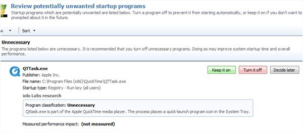 Unwanted startup programs