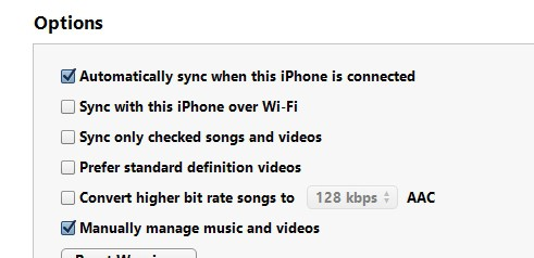 iTunes copy music to iPhone