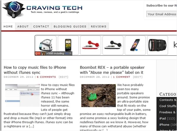 Craving Tech 2012 traffic