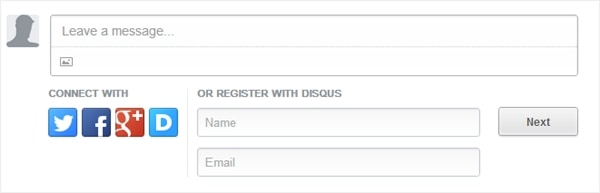 Disqus login