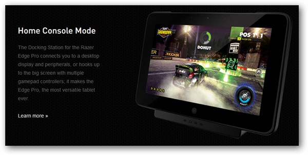 Razer Edge Home Console Mode