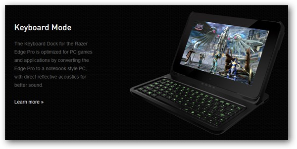 Razer Edge Keyboard Mode