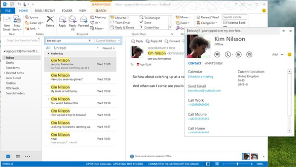 Skype with Outlook