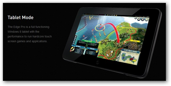 Razer Edge Tablet Mode