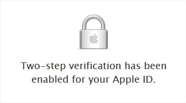 Enable 2 step verification apple itunes