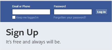 how to use html to change a facebook password