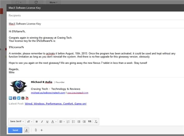 Gmail compose mail merge